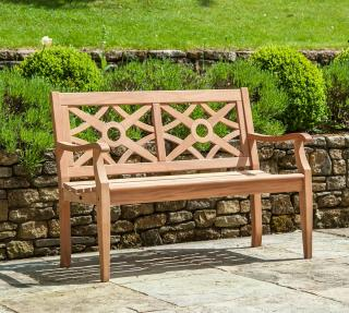 Alexander Rose Code 626. This attractive 2 seat bench is made from durable mahogany.
