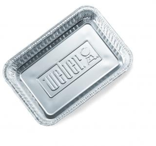 Large heavy guage aluminum drip pan, foil liners for your Weber. Pack of 10.