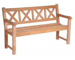 Alexander Rose Code 642D. This Danish design bench is made from durable mahogany.