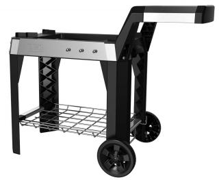 This wheeled cart will fit the Pulse 1000 & 2000 & has a useful stainless steel side table.