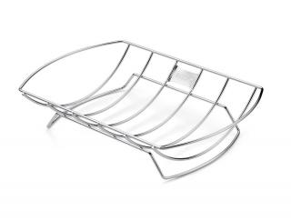 The roast holder is an ideal way to cook roasts on the grill.