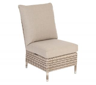 Alexander Rose Code 6609PRL. A modular single chair in a light coloured weave with matching cushions.
