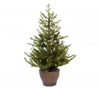 3ft Pre-lit Battery Operated Norway Potted Life Like Artificial Christmas Tree