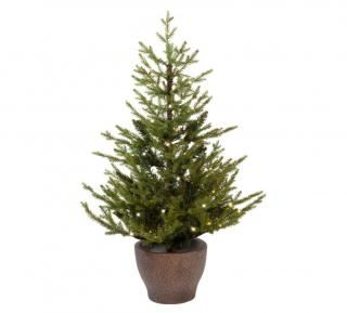 4ft Pre-lit Battery Operated Norway Potted Life Like Artificial Christmas Tree