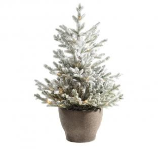 3ft Pre-lit Battery Operated Snowy Norway Potted Life Like Artificial Christmas Tree