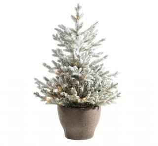4ft Pre-lit Battery Operated Snowy Norway Potted Life Like Artificial Christmas Tree