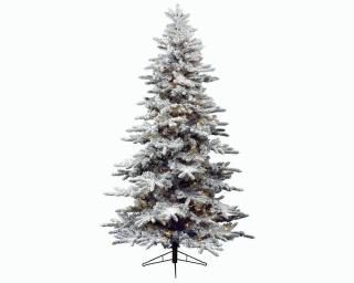This 6ft PVC Pre-lit Snowy Alaskan Fir looks extra festive with its snow covered branches.