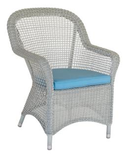 Alexander Rose Code 7002CW. This traditionally shaped armchair comes in a white open weave.