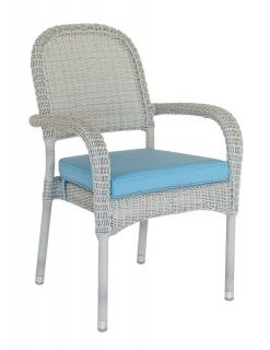 Alexander Rose Classic Collection Stacking Armchair Cushion in Blue