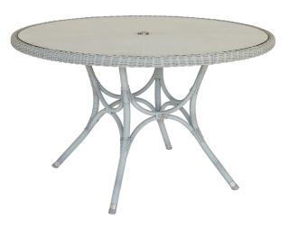 Alexander Rose Code 7007CW. This stylish woven table comes with a glass table top.