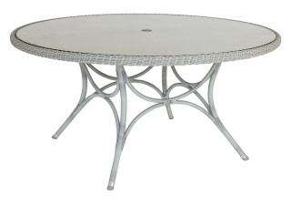 Alexander Rose Code 7008CW. This stylish woven table comes with a glass table top.