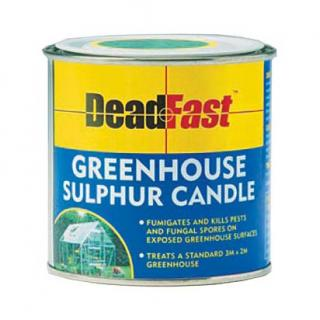 Growing Success Sulphur Candle. Fumigates and kills pests and fungal spores on exposed surfaces. Sufficient to treat a 3 metre by 2 metre greenhouse.