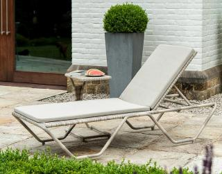 Alexander Rose Code 714PRL. An adjustable stacking sun lounger in Pearl tones.