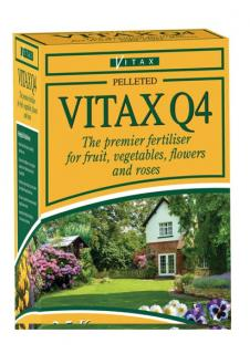 Vitax Q4 All Purpose Garden Fertiliser 2.5kg. All purpose pelleted fertiliser contains the vital nutrients and trace elements essential for vigorous plant growth.