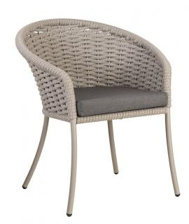 Alexander Rose Cordial Beige Dining Chair with anthracite cushion
