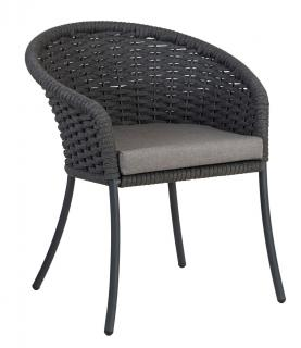 Alexander Rose Cordial Grey Dining Chair with anthracite cushion
