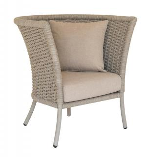 Alexander Rose Cordial Beige Straight Top Lounge Chair