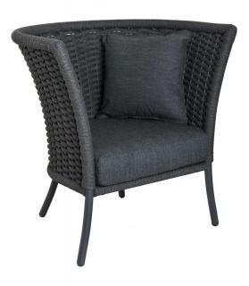 Alexander Rose Cordial Grey Straight Top Lounge Chair