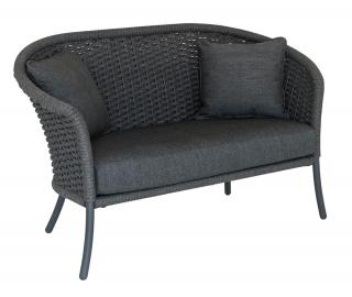 Alexander Rose Cordial Grey Curved Top Lounge Sofa