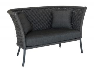Alexander Rose Cordial Grey Straight Top Lounge Sofa