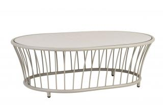 Alexander Rose Cordial Beige Aluminium Oval Coffee Table