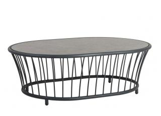 Alexander Rose Cordial Grey Aluminium Oval Coffee Table
