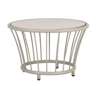 Alexander Rose Cordial Beige Aluminium Side Table