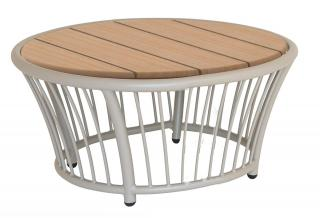 Alexander Rose Cordial Beige Aluminium & Roble Side Table