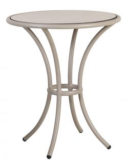 Alexander Rose Code 7551BEHPL. This attractive 0.62m beige aluminium bistro table has an HPL table top in Sand.
