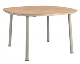 Alexander Rose Cordial Beige Aluminium & Roble Dining Table 120cm