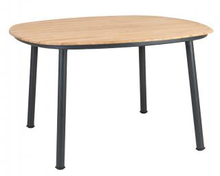 Alexander Rose Cordial Grey Aluminium & Roble Dining Table 120cm