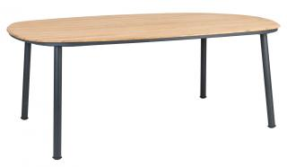 Alexander Rose Cordial Grey Aluminium & Roble Dining Table 200cm
