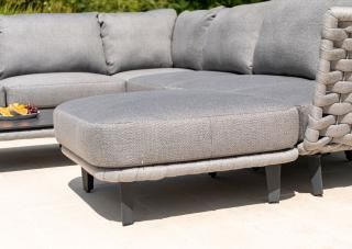 Alexander Rose Cordial Luxe Ottoman in Light Grey