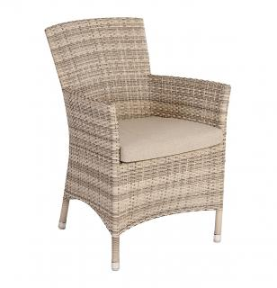 Alexander Rose Code 761PRL. An armchair in a light coloured weave with a matching seat cushion
