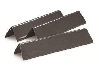 Set of three Porcelain Enamelled Flavorizer Bars for the Weber Spirit 2 Burner gas grills.