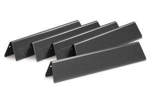 Set of five Porcelain Enamelled Flavorizer Bars for the Weber Spirit 3 Burner gas grills.