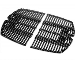 A 2 piece cast iron cooking grate for the Q200/2000 gas grills.