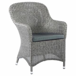 Alexander Rose Monte Carlo Curved Top Armchair with cushion