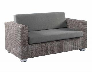 Alexander Rose Code 7704GR. Grey weave sofa with textured dark grey cushions.