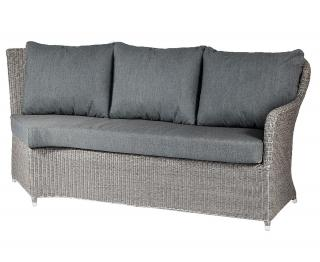 Alexander Rose Code 7715GR-LH. A grey weave modular sofa with charcoal grey cushions.