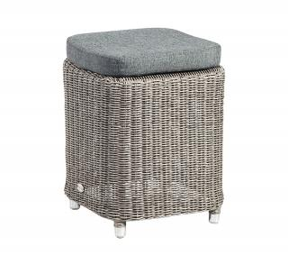 Alexander Rose Code 7717GR. A handy cushioned stool which can also be used as a side table.