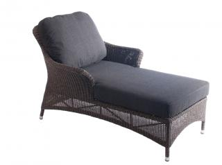 Alexander Rose Code 7724GR. Relax on this woven, maintenance free chaise type sunbed complete with cushion.