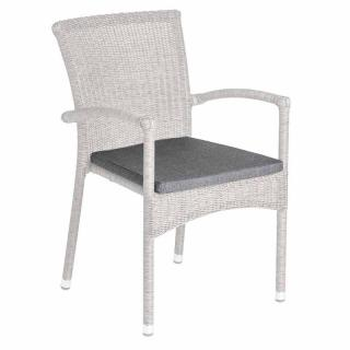Alexander Rose Stacking Armchair Cushion Charcoal