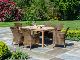 Alexander Rose San Marino 6 Seat Rectangular Roble Set