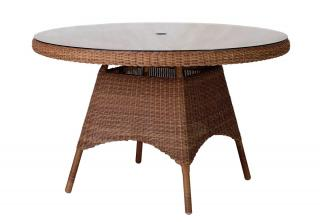 Alexander Rose San Marino Table With Glass 1.2m