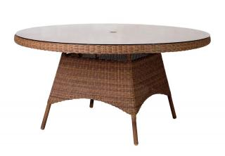 Alexander Rose San Marino Table With Glass 1.5m