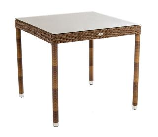 Alexander Rose San Marino Table With Glass 0.8m