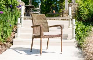 Alexander Rose Code 7832. A useful stacking garden armchair which can be used to create a bistro or dining set.