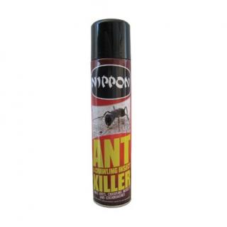 Vitax Nippon Ant & Crawling Insect Killer Aerosol. Will remain effective for up to 8 weeks on non-absorbent surfaces. 300ml Aerosol. Contains permethrin & tetramethrin.