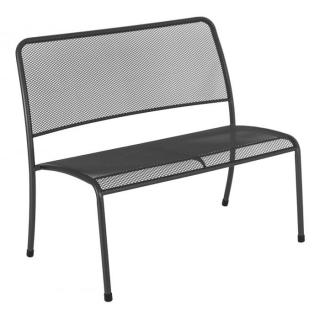 Alexander Rose Code 7980. Powder coated, tubular steel & wire mesh bench.